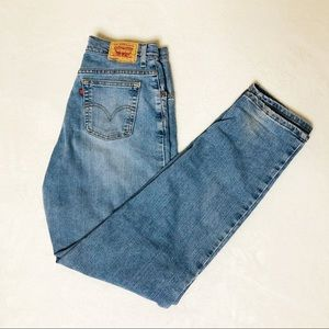"Levi's 550 12"" Relaxed Tapered Mom Jeans Sz 12L"